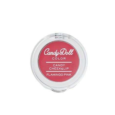 CandyDoll キャンディリップ&チーク【フラミンゴピンク】